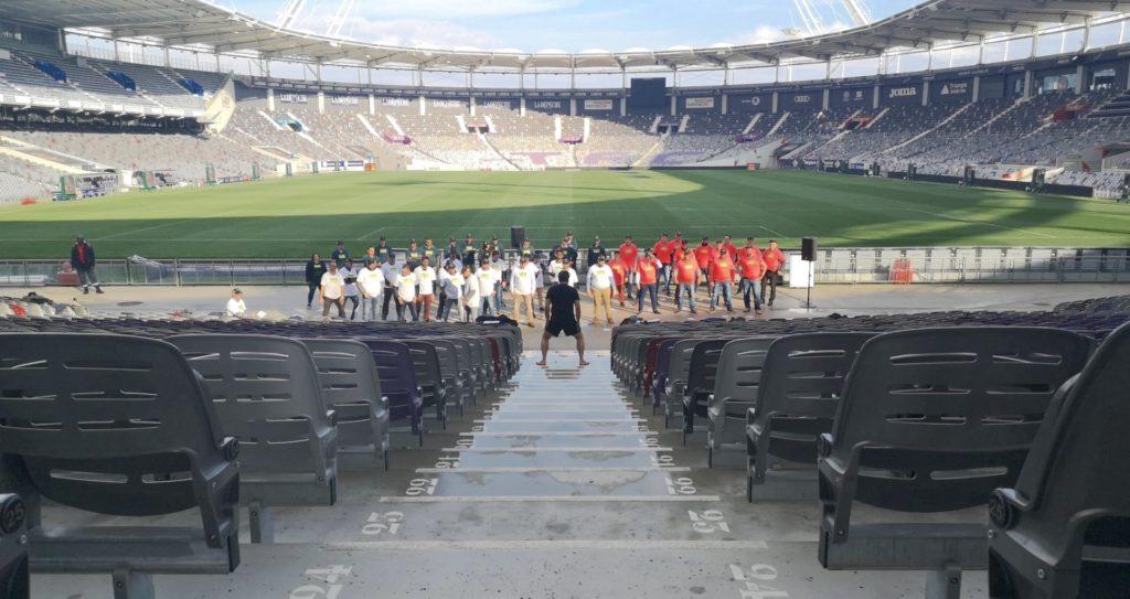 Equipage & Co - Haka au Stadium Toulouse
